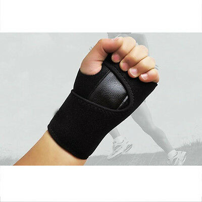 Adjustable Sport Wristband Wrist Bracer Bandage Support Band With Steel Plate