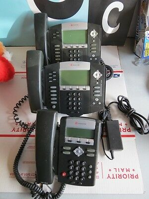 Lot of 3 Polycom Phones IP650 IP550 IP350 PLESE READ