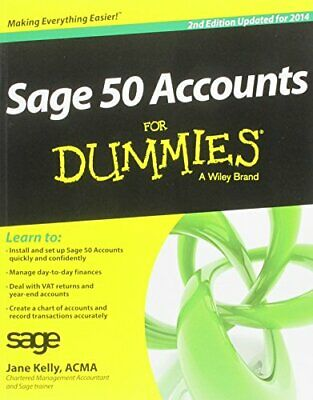 Sage 50 Accounts For Dummies 2014 by Kelly, Jane Book The Cheap Fast Free Post