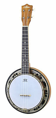 Brand New Aria Abu-1 Banjo Ukulele With Gig Bag - Banjolele