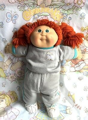 Vintage 1980's Cabbage Patch Kids redhead doll with original diaper outfit