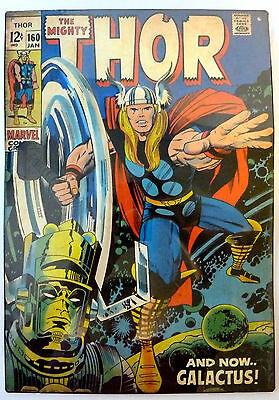 The Mighty Thor #160 12 cent New Comic Book Cover Embossed Metal SIGN Galactus