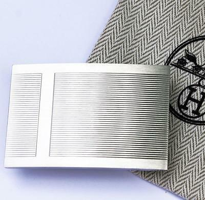 RARE Authentic Brush Silver Palladium HERMES H Belt Buckle in dust bag 32m NEW