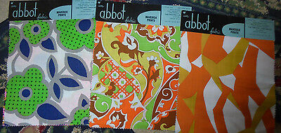 FUNKY FLOWERS samples for crafting sewing Abbot fabric material Maverick prints