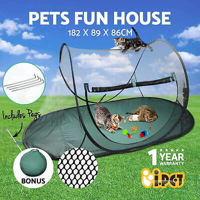 Large Pet Dog Cat Playpen Outdoor Enclosure Portable Exercise Cage Play Tent