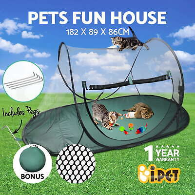 i.Pet Pet Soft Playpen Cat Bed Crate Dog Kitten Puppy Portable Play Tent Cage