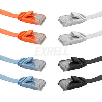 RJ45 CAT6 Ethernet Network LAN Cable Flat UTP Patch Router Interesting