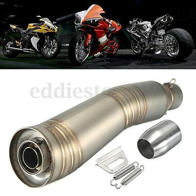 38-51 Universal Stainless Steel Motorcycle Exhaust Muffler Slip-On Silencer Pipe