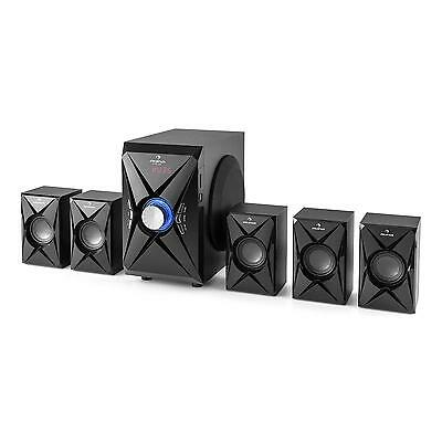 Altavoces Home Cinema 5.1 Subwoofer Audio Surround USB SD mando 100W potencia