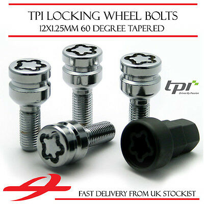 TPI Premium Locking Wheel Bolts 12x1.25 Nuts for Fiat 500 07-16
