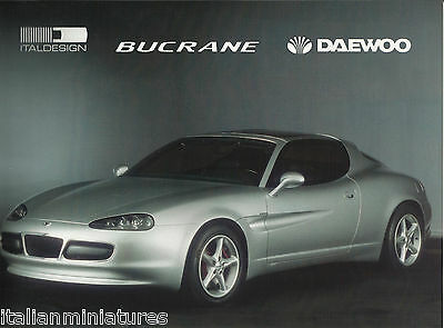 Daewoo Bucrane V6 Coupe Italdesign Glossy Mint Condition Brochure