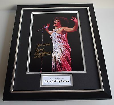 Dame Shirley Bassey SIGNED FRAMED Photo Autograph 16x12 display AFTAL & COA