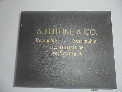 25922 Musterkiste Lüthke & Co Reismühle Hamburg Reis Jungfernsteg rice samples