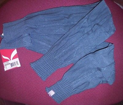 NWT Capezio Cable Knit soft legwarmers sage green CK10793W 27 inches long ladies