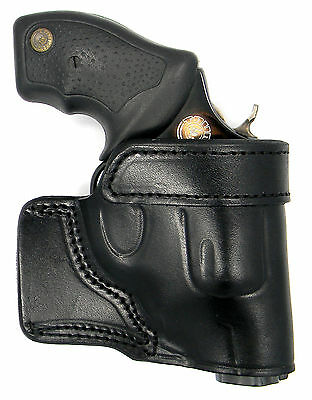 CEBECI BLACK LEATHER OWB YAQUI QUICK DRAW BELT HOLSTER for RUGER LCR SP101