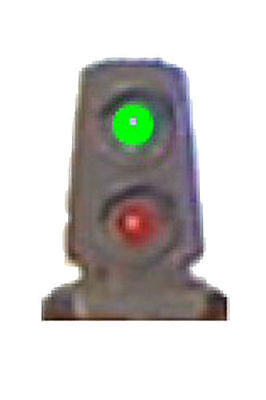 N Scale 2-Light Dwarf Signal Brass Green over Red LEDs Tomar N852