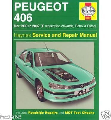 Peugeot 406 99to02(T reg onwards) Petrol Haynes 3982 Service& Repair Manual New