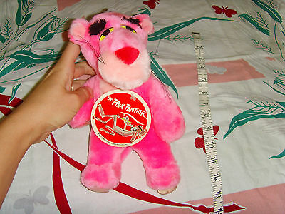 NOS Pink Pather suction cup plush toy animal 1988 United Artist Pictures NWD H2F