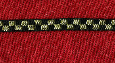 Star Trek TWOK  Wrath of Khan - Admiral Kirk Gold Checkered Sleeve Braid
