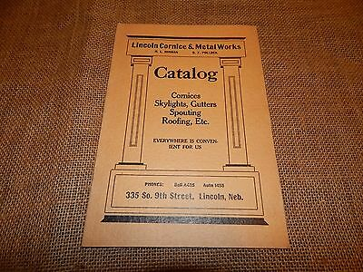 Vintage Antique Lincoln Cornice & Metal works Catalog booklet Lincoln Nebraska