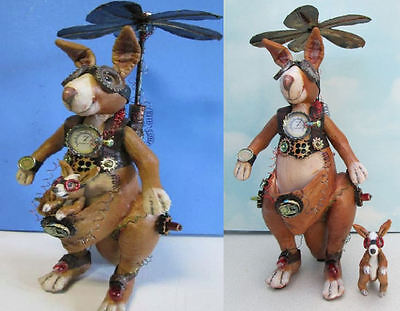 """*new* """"steampunk Kangaroo"""" Cd Class And Pattern By Susan Barmore"""