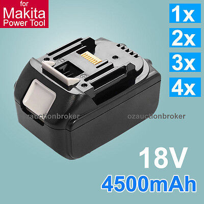 4.5Ah 18V Lithium Ion Heavy Duty Battery for Makita Power Tool BL1830 BL1815 AU