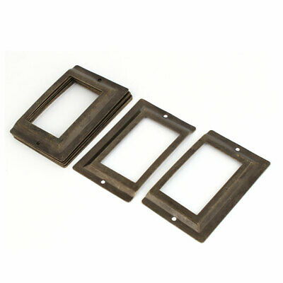 Office Library File Drawer Tag Metal Label Holder Bronze Tone 10pcs