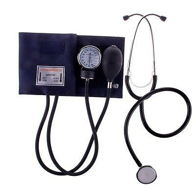 Aneroid Sphygmomanometer Arm Blood Pressure Monitor Stethoscope Cuff Dial HF