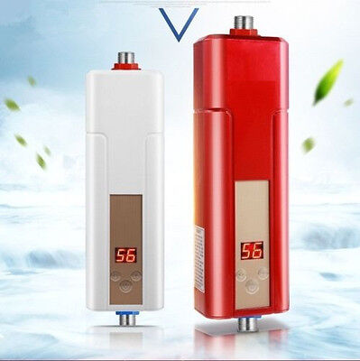 Instantaneous Tap 5500W Bathroom Instant Electric Tankless Hot Water Heater
