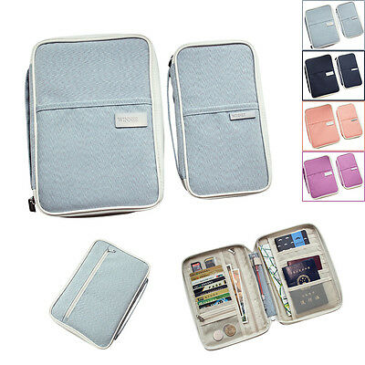 Travel Organizer Bag Money Passport Card Document Holder Wallet Handbag Mini