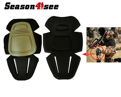 Emerson Military Outdoor Combat Protective Knee Pads for Airsoft Paintball Tan