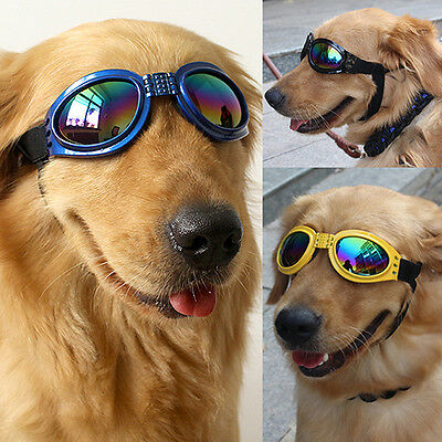 Dog's Pets UV Protection Foldable Sunglasses Goggles Adjustable Straps Amusing