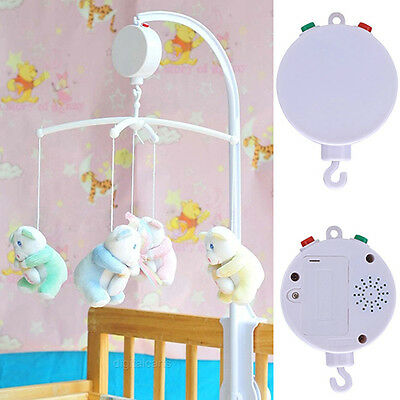 Baby Toy 0-12 Month Bed Music Boxes Kids white Music Box for Rotary Toy Amusing
