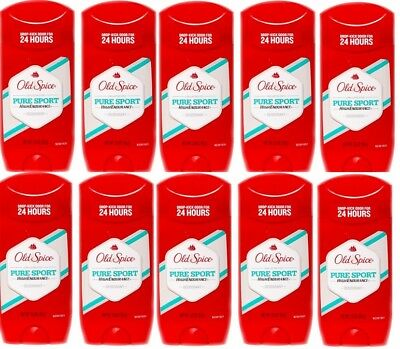 10pk Old Spice Long Lasting 24 Hour Protection Deodorant Pure Sport