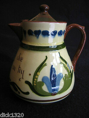 ART DECO TORQUAY/LONGPARK 'SCANDY' MOTTO SMALL COFFEE POT c.1920's A/F