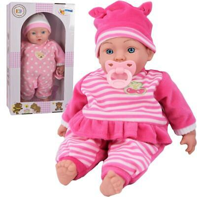 "16"" New Born Baby Doll Soft Bodied & Vinyl With Pacifier Dummy"
