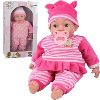 "18"" New Born Sleeping Baby Doll Soft Bodied & Vinyl With 2 Set of Clothes"