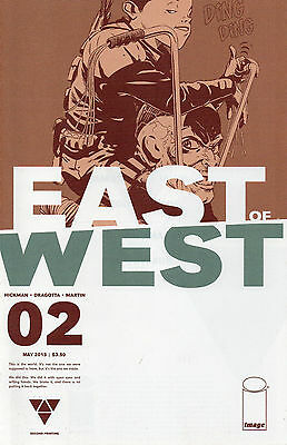 East Of West #2 (NM)`13 Hickman/ Dragotta (2nd Print)