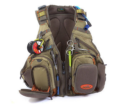 New Fishpond Wasatch Fly Fishing Vest Backpack Driftwood Free Waterlog Bladder