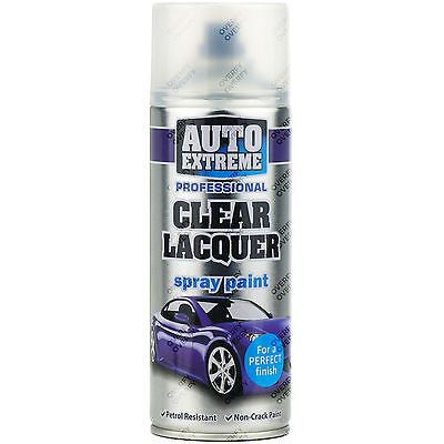 1 x 400ml Clear Lacquer Gloss Spray Paint Aerosol Can Auto Extreme Metal Wood