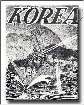 US Navy Army Marines  Korea Scrapbook Page or Wall Art Canvas Print 2D