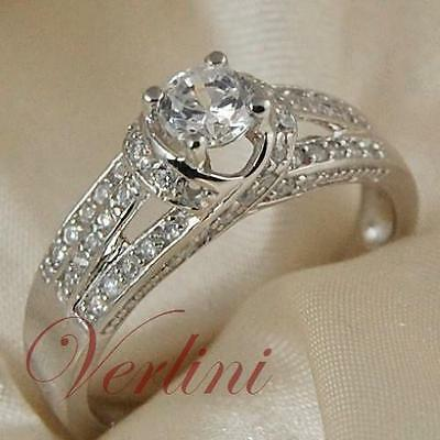 1 Ct Round Brilliant Cut Wedding Women's Ring Diamond Simulated Jewelry Size 5-9