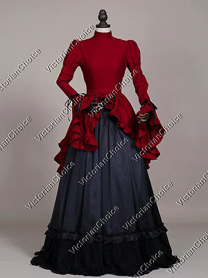 Victorian Gothic Downton Abbey Dress Gown Steampunk Theater Costume 324