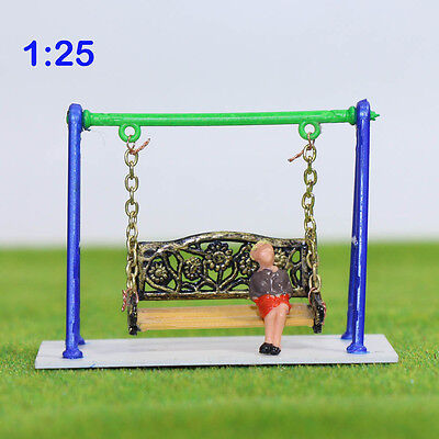 GY62025 1PC  Model Train Railway Swing chair Playground toys 1:25 G  Scale New