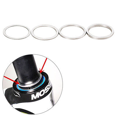 4pcs Bicycle 0.3/1/2/3mm Headset Fork Washer Dust Cover Fine Spacer Gap Bike New