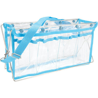 """Deluxe Handy Caddy 14""""X7""""X5""""-Clear W/Turquoise Trim"""