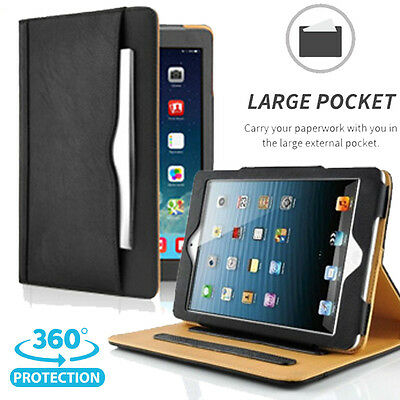 For iPad Air / iPad Air 2 Flip Soft Leather Wallet Case Smart Cover Stand Skin