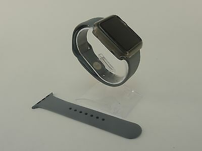 Grey Sports Band Silicon Replacement Strap For Apple Watch 42MM