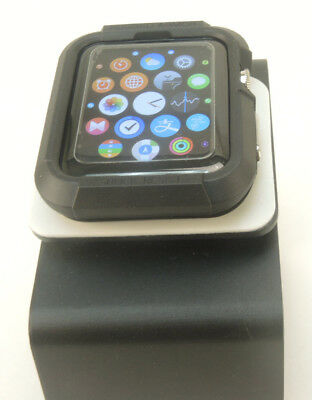 Black Apple Watch  42mm Case Cover Screen Protector with 2 Free Screen Cover