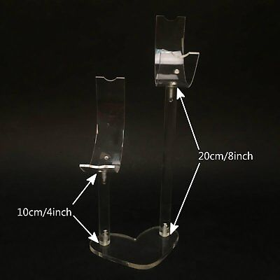 Double-C 12inch Clear Acrylic Shoe Shop Window Retail Display Stand Rack #14